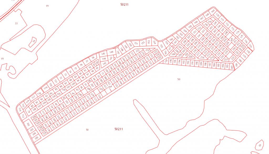 Кадастровая карта посёлка Березёнки
